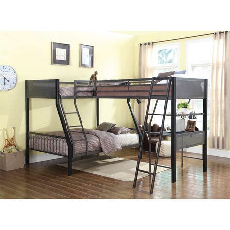 coaster bunks metal loft bunk bed with loft