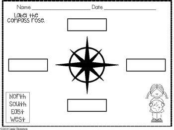 labeling a compass rose freebie by cassie thompson tpt