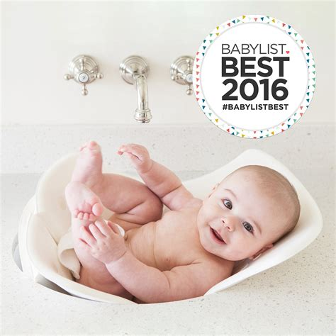 Puj Infant Tub by Puj Hug Free Hooded Infant Towel White