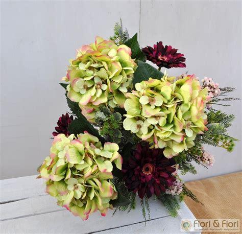 fiori secchi ortensie bouquet di fiori artificiali quot ortensie e gerbera quot fiori