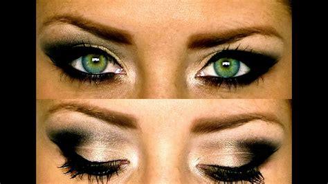 black smokey eye makeup tutorial youtube