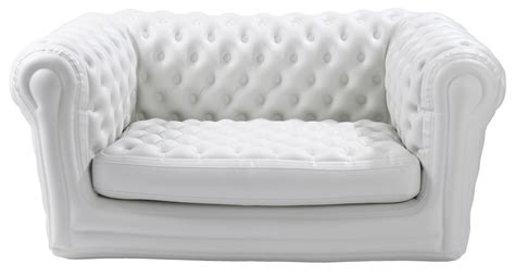 big blo  straight sofa inflatable  seats white