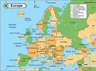 Europe Physical Features Map | Holiday Map Q | HolidayMapQ ...