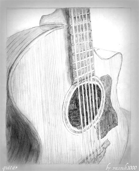 96 Awesome Guitar Drawings Cool Guitar Drawing Pics How Motto