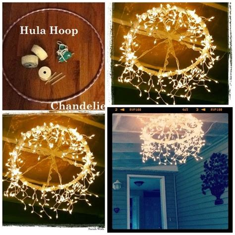 how to make a chandelier from a hula hoop pictures photos