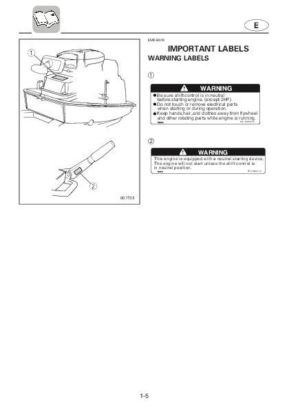 Yamaha Outboard Motor Owner S Manual by 2004 Yamaha Outboard 8c Boat Motor Owners Manual