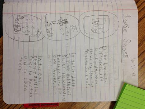 readera  notebook  retell stories  sequence