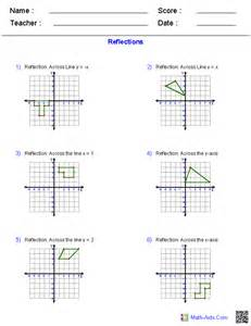 Reflection Worksheet Geometry Worksheets Transformations Worksheets