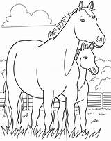 Coloring Horse Farm Animal Pony Printable Animals Colouring Sheets Bestcoloringpagesforkids sketch template