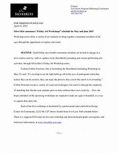 press release sample for silver kite community arts With artist press release template