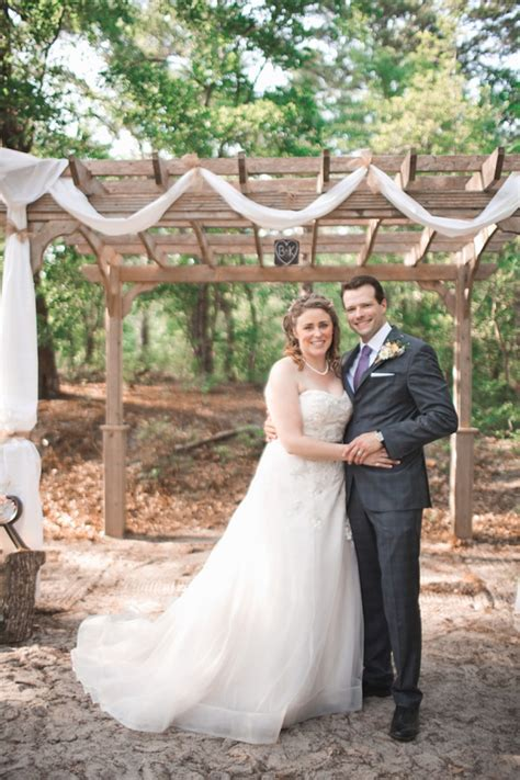 rustic  landing state park wedding tidewater