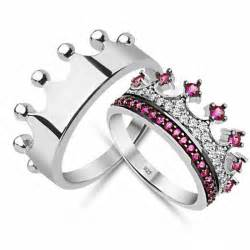 crown wedding rings king crown ring crown ring set gold crown ring 925k silver decorated with high quality