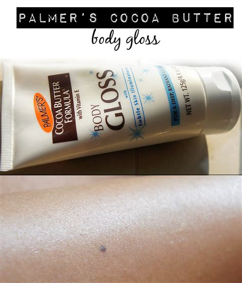 yolanda g palmer 39 s cocoa butter body gloss with subtle skin illuminators review