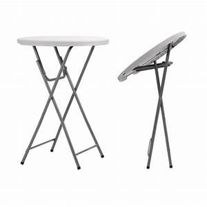 Table Pliante Ronde : table pliante mange debout en polypro table pliante mange debout ronde ~ Teatrodelosmanantiales.com Idées de Décoration