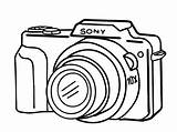 Camera Coloring Drawing Cameras Digital Clipart Sony Easy Simple Printable Space Clip Cliparts Drawings Crafts Kidopo Lens Canon Colouring Repair sketch template