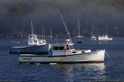 Lobster Boat New York by Lobster Boats At In Bar Harbor Maine Boats