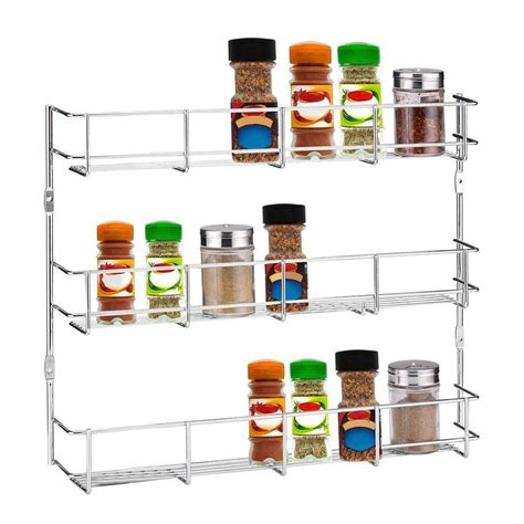 Kitchen Pantry Rack by 3 Tiers Kitchen Spice Rack Cabinet Wall Mount Storage
