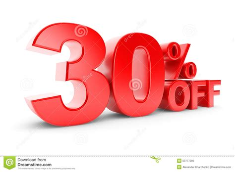 30 Percent Discount Stock Illustration. Illustration Of