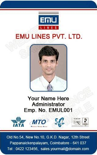photo id card designs id card template employee id