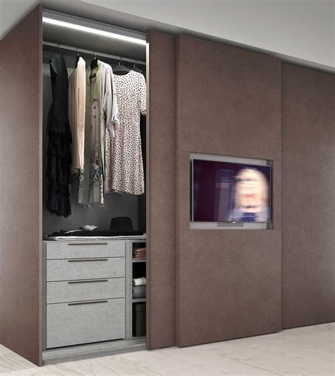 Wardrobe Wide by Wide Sliding Door Wardrobe With Built In Tv Diotti