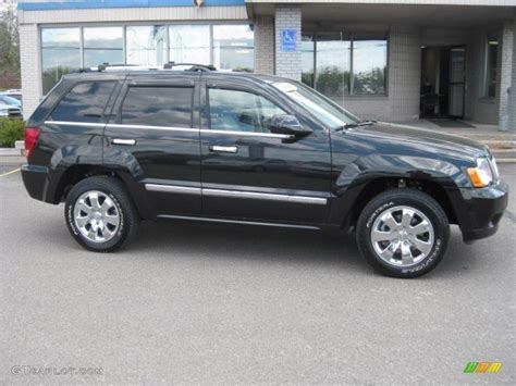 black jeep cherokee 2008 black jeep grand cherokee overland 4x4 29483696