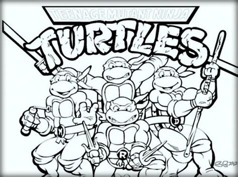 ninja turtle pizza coloring pages