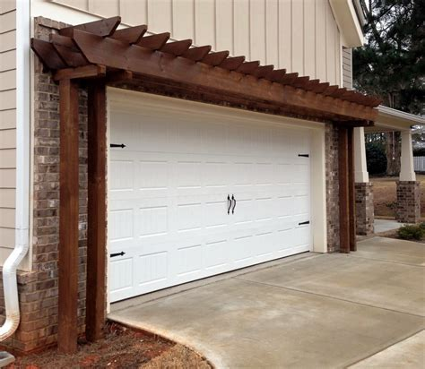 Pergola Over Garage An Excellent Option  Pergola Gazebos. House With Big Garage. Curved Dining Bench. Rustica Hardware. Modern Cutting Board. Two Person Chair. Creekside Construction. Storage Cabinet. Cost To Redo Bathroom