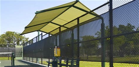 shade systems  sun protection  bleachers dugouts sports fields