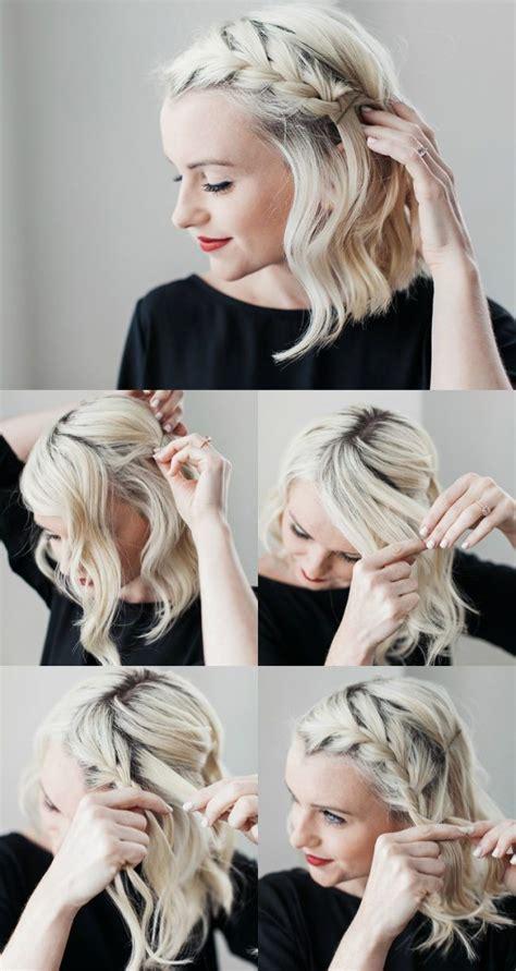 abendfrisuren selber machen geflochten bob kurze haare