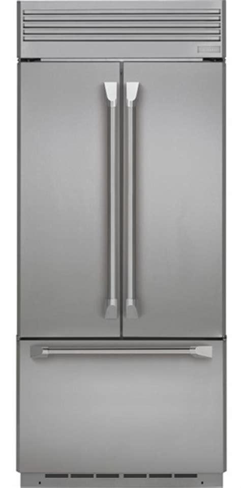 zippnhss ge monogram  built  french door refrigerator  professional style handles