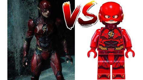 lego flash  suit justice league characters side
