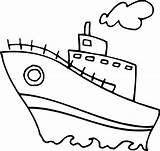 Coloring Boat Pages sketch template