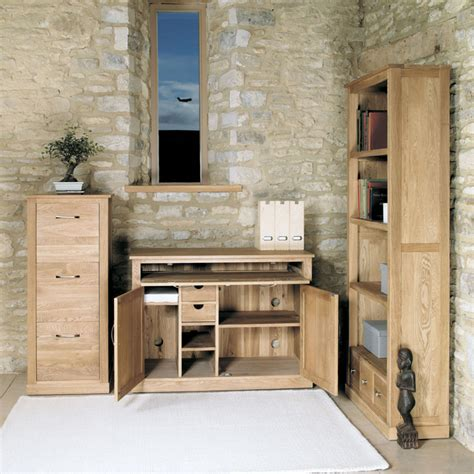 Mobel Oak Hidden Home Office Workstation Was £660.00 Now £