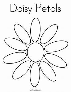 Daisy Petals Coloring Page - Twisty Noodle