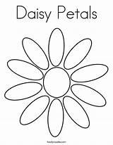 Daisy Petals Coloring Built California Usa sketch template