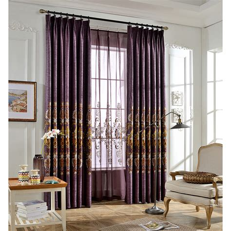 curtains and draperies purple damask embroidery linen vintage curtains and drapes