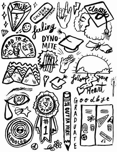 Stickers Printable Aesthetic Graduation Ryan Pdf Sheet