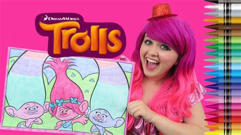 coloring trolls poppy satin chenille giant coloring