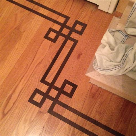 How Much To Add Hardwood Floors by Gorgeous Shiny Things Painted Faux Inlay Floor Border