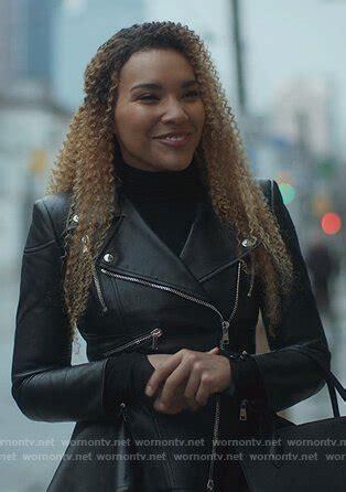 WornOnTV: Allison's black leather peplum jacket on The ...
