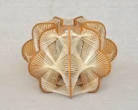 rattan design vintage wood l shade net wicker retro futurism design
