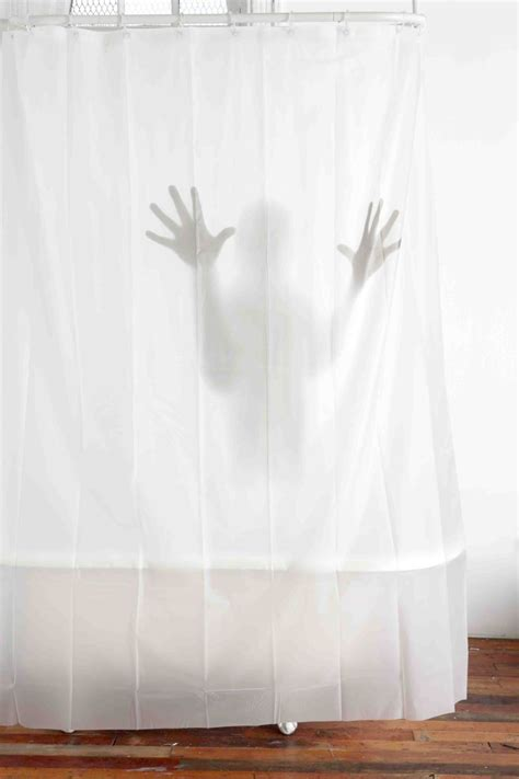 creepy shower curtain scary shower curtain the green