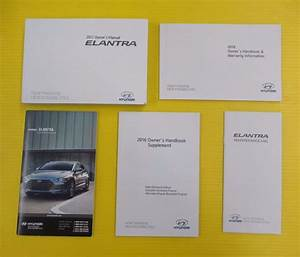 2017 Hyundai Elantra Owner U0026 39 S Manual Set