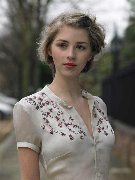 blonde, Actress, Hermione Corfield, Women, Blue Eyes, Face, Portrait Wallpapers HD ...