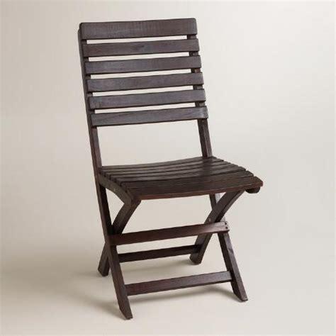 espresso wood folding chairs set of 2 world market