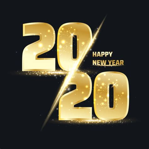 happy  year  gold number happy  year png