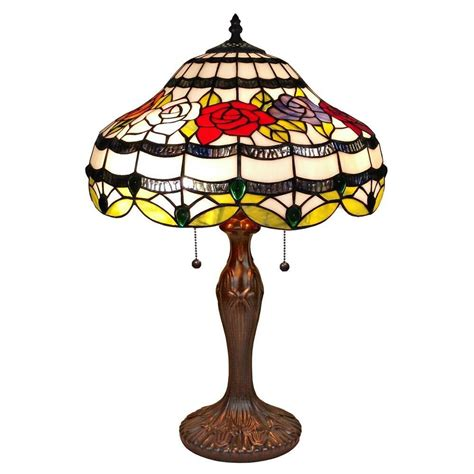 home depot tiffany ls amora lighting 23 in tiffany style mission design table