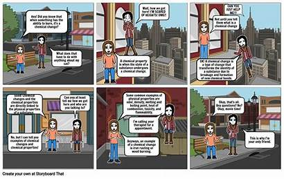 Comic Strip Project Chemical Properties Storyboard