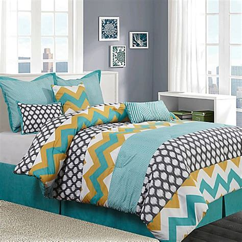 yellow and blue bedroom nanshing nolan 7 piece comforter set in blue yellow bed 17894 | 11837423322705m?$478$