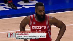 James Harden 51 Points, 13 Rebounds, 13 Assists at 76ers ...